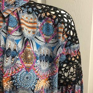 filomena fernandez Tops - filomena fernandez cutout shoulder blouse size s/m